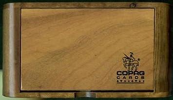 Copag tarjeta de madera – caja para 2 barajas de cartas