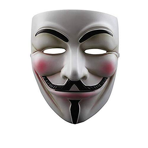 NEVLANTII V for Vendetta Quality Guy Fawke Mask Anonymous Guy V for Vendetta Mask One Size
