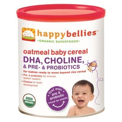 Happy Baby: Happybellies Oatmeal Baby Cereal, 7 oz