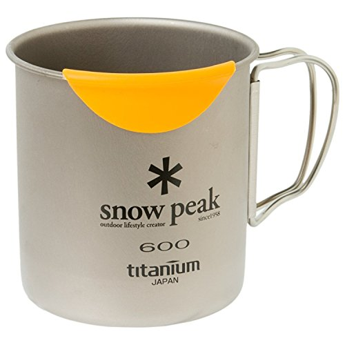Snow Peak Hot Lips Mug, MGH-044, Japanese Titanium, Made in Japan, Designed in USA, Heat Protection, Lifetime Product Guarantee