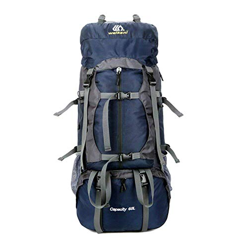 - ONEPACK Hiking Backpack 60L Lightweight Water Reasistant Trekking Bag Durable Outdoor Sport Daypack for Climbing Mountaineering Fishing Travel Cycling (Blue.)