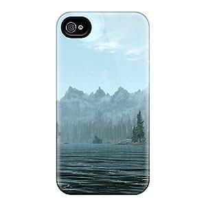 Cute Appearance Cover/tpu ZMGPwJW3633tMZcu Skyrim Lakeside Case For Iphone 4/4s