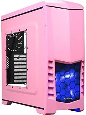 Raidmax Scorpio V Mid torre ordenador Gaming Case atx-503wp rosa: Amazon.es: Electrónica