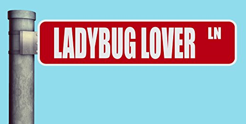 LADYBUG LOVER LN STREET SIGN LANE HEAVY DUTY ALUMINUM ROAD SIGN 17