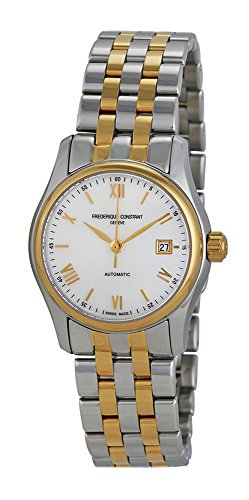 Frederique Constant Classics Automatic Mother of Pearl Dial Two-tone Stainless Steel Ladies Watch FC-303MPWN1B3B