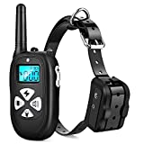 Tebaba Dog Training Collar 1000ft Remote 2018 Upgraded Dog Shock Collar Rechargeable & IPX67 Waterproof Electric Shock Collar with Beep Vibration and Harmless Shock for Small,Medium and Large Dogs