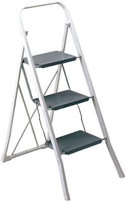 Rayen 0136 - Escaleras con 3 peldaños, manejables, prácticas y seguras: Amazon.es: Bricolaje y herramientas
