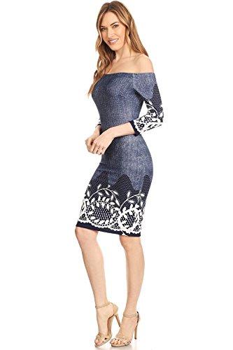 Claire barbarella Blau Casual Damen Blau Kleid 8rWRnwqtR1