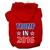 Mirage Pet Products Trump in 2016 Election Screenprint Pet Hoodies, 3X-Large, Red For Sale