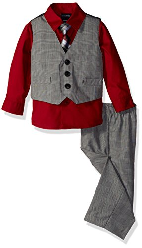 Nautica Baby Glen Plaid Vest Set, Rio Red, 18 (Wear Suit Vest)