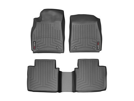 2013-2015 Cadillac XTS-Weathertech Floor Liners-Full Set (Includes 1st and 2nd Row) Black