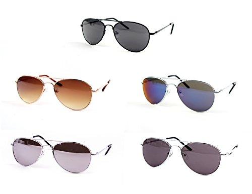Children Metal Classic Aviator Color Lens Sunglasses P1302