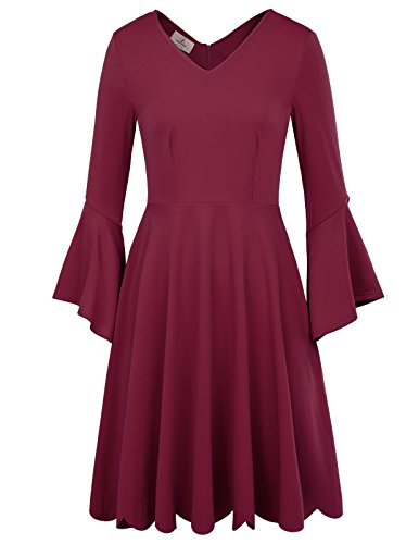 long sleeve ankle length cocktail dresses - 2