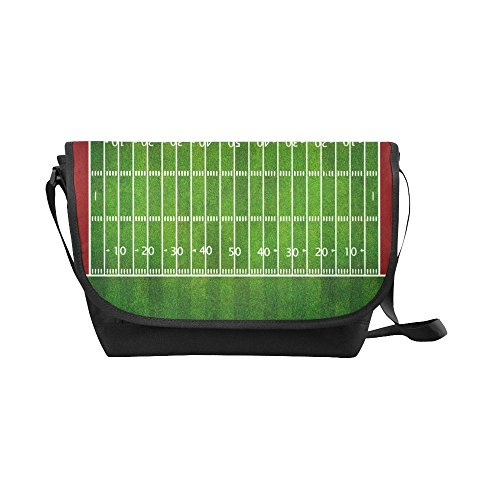 American View Computer (Gogogosky Custom American Football Field Top View Messenger Bag Crossbody Bag Laptop Shoulder Bag)