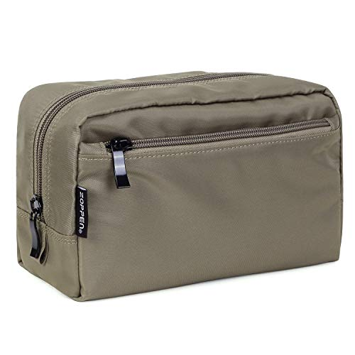 Zoppen Travel Unisex Waterproof Cosmetic Bags Handy Toiletry Makeup Pouch Organizer Case, Taupe