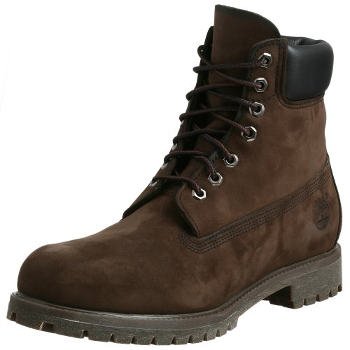 "Timberland Men's Classic 6"" Premium Boot, Dark Brown Nubuck, 8.5 M Us"