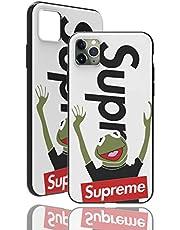 """SUP Frog Case [ Compatible con el iPhone 11 Pro MAX - 6.5"""", Blanco ] Adecuado para Supreme x Kermit la Rana - Sentir la Portada con Motivos 3D sólido"""