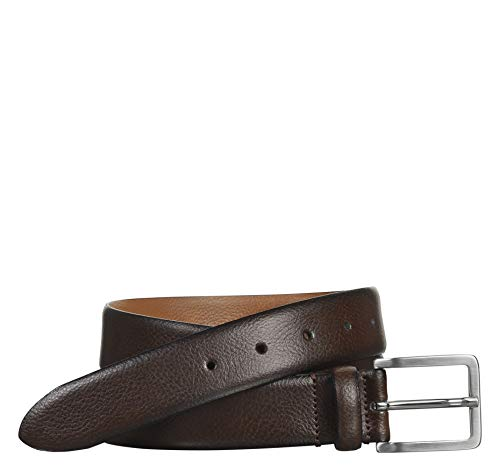 Leather Edge Feather - Johnston & Murphy Men's Feather-Edge Dress Belt Brown 40 US