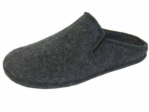 Coolers Mens Plain Microfleece Twin Gusset Mule Slippers - Grey - 7 UK BNOxx