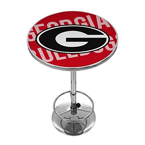 Georgia Pub Table - Trademark Gameroom University of Georgia Chrome Pub Table - Wordmark