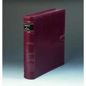 Leuchtturm 336389 LIBRO Archivador de correspondencia con mecanismo de 2 anillas con palanca, marrón: Amazon.es: Oficina y papelería