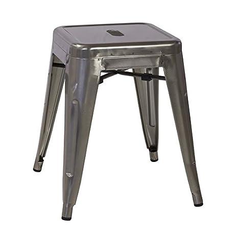 Cool Amazon Com Bastille Tolix Stool In Gun Metal In 12 X 18 X Lamtechconsult Wood Chair Design Ideas Lamtechconsultcom