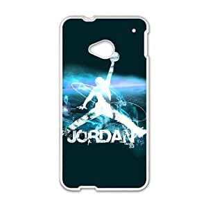 Durable Rubber Cases HTC One M7 Cell Phone Case White Michael Jordan Plyaae Protection Cover