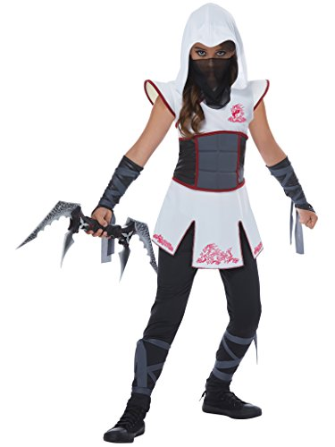 Fearless White Ninja Girl Kids Costume