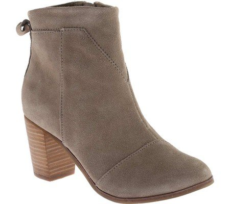 Women's Taupe Suede Leather Lunata Bootie - 5 B(M) US