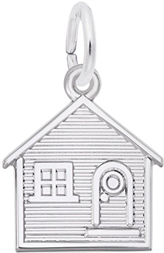 Rembrandt House Charm - Metal - Sterling Silver (Charm Sterling House Silver)