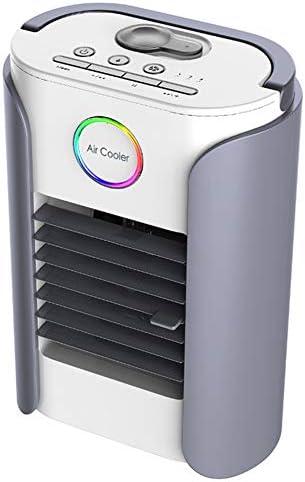 Mini Cooler Aire Acondicionado Portátil con Radio Bluetooth Climatizador Evaporativo Frio Ventilador Humidificador Purificador de Aire Leakproof,Gray: Amazon.es ...