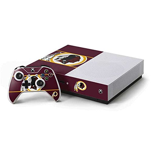 Redskins Washington Xbox Controller - Skinit NFL Washington Redskins Xbox One S Console and Controller Bundle Skin - Washington Redskins Zone Block Design - Ultra Thin, Lightweight Vinyl Decal Protection