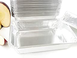Disposable Aluminum Individual Smooth Wall Casserole Pans #D96 (50)