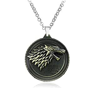 Game Of Thrones Antique Bronze Metal Pendant Necklace Men Jewelry