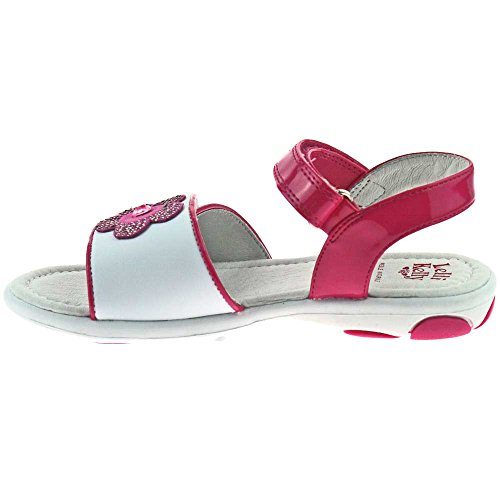 Lelli Kelly LK4556 (IA63) Bianco Fuxia Sandals - Size 25