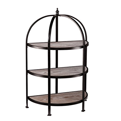 Display Bookcase/ Bookshelves Modern, Vetta 3-Tier Matte, Oak Finish Rotunda - Assembly Required OS3753ZH. 46.25 in High 31 in Wide x 16.25 in Deep by Upton Home