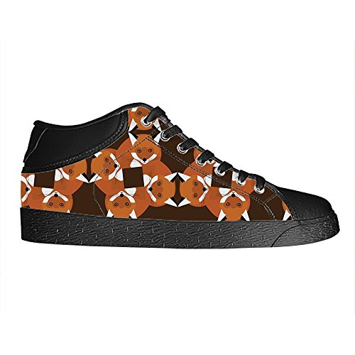 Dalliy Custom Fox Womens Canvas Shoes Schuhe Lace-Up High-Top Footwear Sneakers E