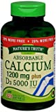Nature's Truth Absorbable Calcium 1200 mg plus D3 5000 IU per Serving Quick Release Softgels – 120 ct, Pack of 2