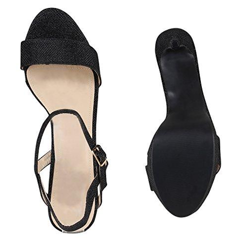 Japado - Sandalias de Punta Descubierta Mujer negro