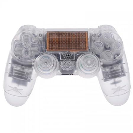 PS4 Controllergehäuse für Dualshock 4 Controller inkl. Mod Kit - transparent weiß