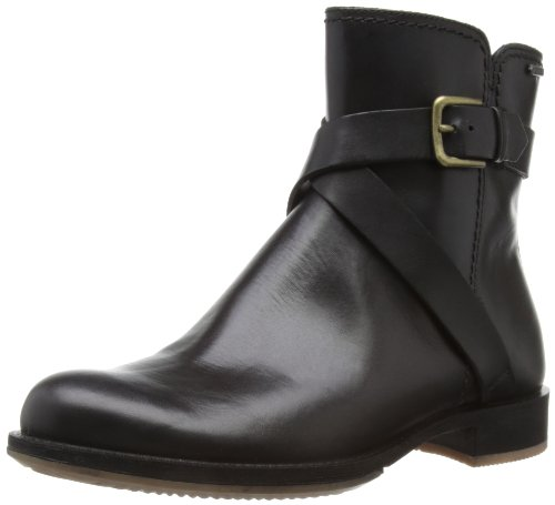 Ecco ECCO SAUNTER - Botines planos, talla: Marrón, color: 38 Negro (BLACK11001)