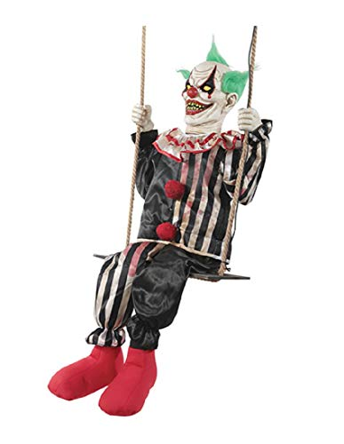 (Morris Costumes Swinging Chuckles The Evil Clown Animated Prop Halloween)