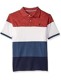 Nautica Little Boys' Short Sleeve Ombre Stripe Polo