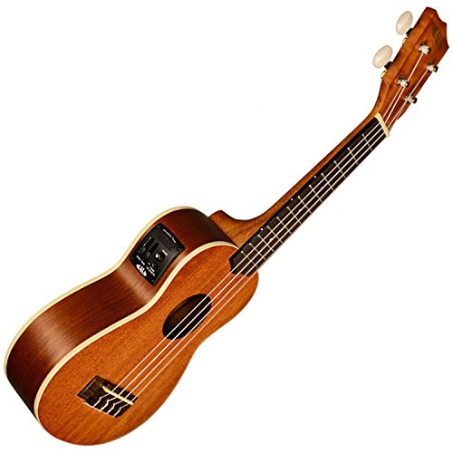 Kala KA-SE Mahogany Series Soprano Acoustic Electric Ukulele w/ EQ by Kala