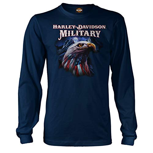 (Harley-Davidson Military - Graphic Long-Sleeve T-Shirt - Overseas Tour | Patriot Eagle MD)