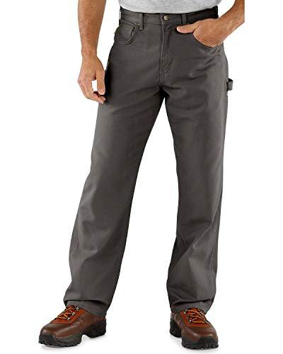 Carhartt Men's Loose Fit Five Pocket Canvas Carpenter Pant B159, Charcoal, 36W X 30L