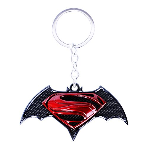 CG Costume Batman V Superman: Dawn of Justice Logo KeyChain Key Ring Alloy -
