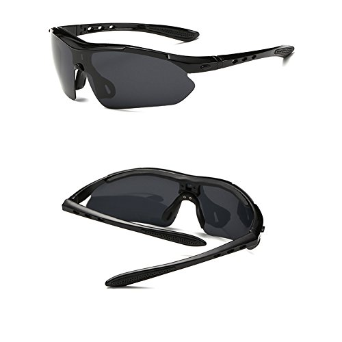 ASTIM Unisex Outdoor Sports Sunglasses Windproof Sand Glasses(Grey)