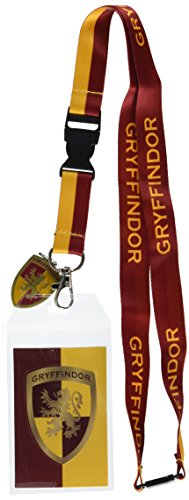 Harry Potter Gryffindor Lanyard With 3D Metal Charm ID Card Holder And Sticker