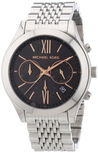 Michael Kors Brookton Chronograph Grey Dial Stainless Steel Ladies Watch MK5761